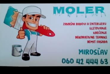 Molersko – fasaderski poslovi
