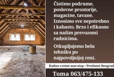Ciscenje podruma Beograd