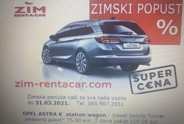 ZIM rent a car Beograd, najbolja zimska ponuda