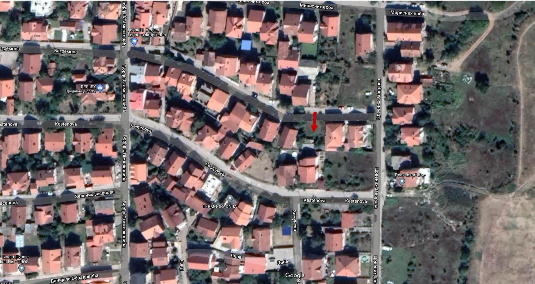 Čalije, urbanizovani plac u Nišu, super lokacija
