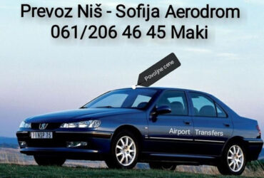 Prevoz Transport Nis Sofija aerodrom airport transfers