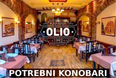 Kafani Olio i Restoranu Vis potrebni konobari sa iskustvom