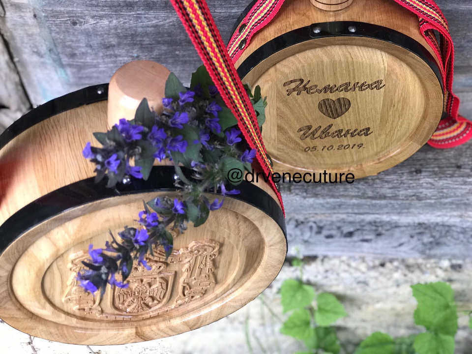 Izrada hrastovih drvenih ČUTURA sa gravurom