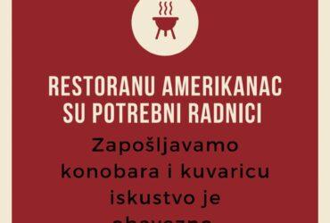 Restoranu Amerikanac potrebni radnici