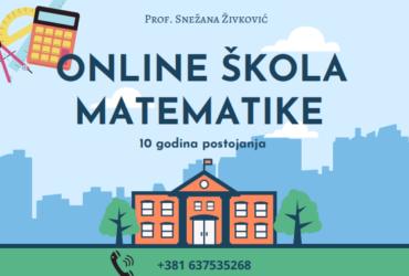 Časovi matematike , Online , NIŠ
