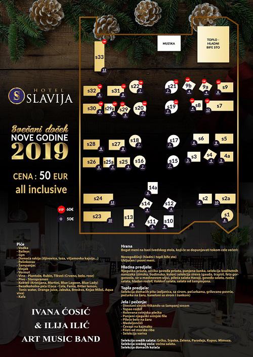 Nova godina doček restoran Hotel Slavija Beograd