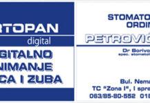 """Snimanje vilica i zuba """"Ortopan digital"""""""