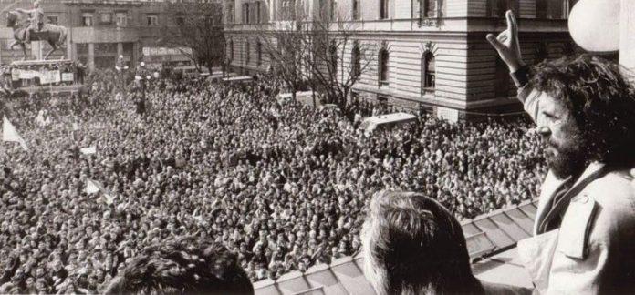 demonstracija protiv Miloševićevog režima