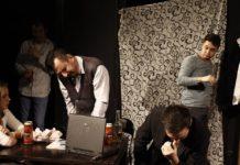 "Scena iz predstave ""Hadersfild"", Akadmesko pozorište SKC-a."