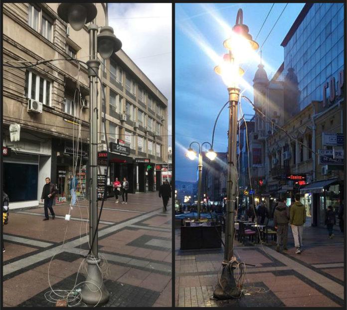 Kablovi vise i noću i danju u centru Niša