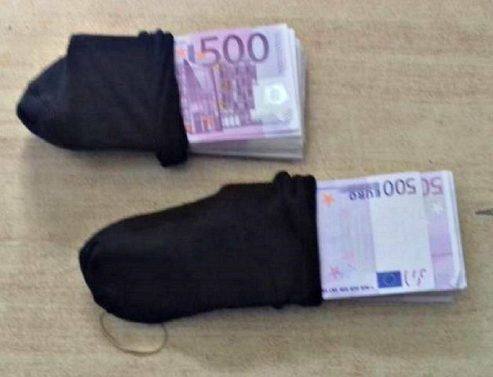 Neprijavljen novac, Gradina; Foto: Uprava carine