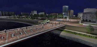 Pešačka zona preko tvrđavskog mosta; Foto: Zavod za urbanizam