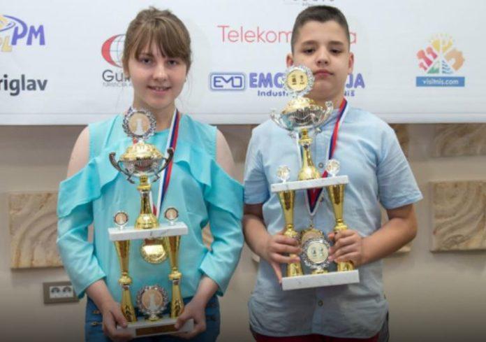 Anđela Dimitrijević (14) i Pavle Ćirić