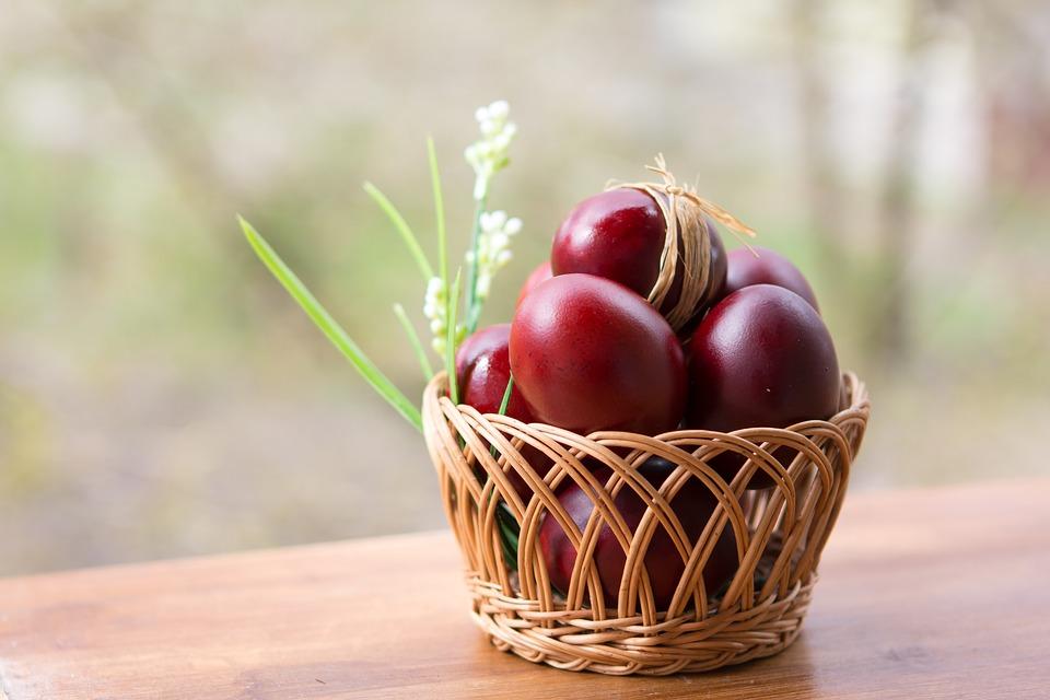 Crvena jaja, Uskrs