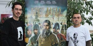 "Marko Marinković, autor filma ""Knez Lazar"" i Vladan Vučković, potpredsednik ""Petrus"" Zabrega."