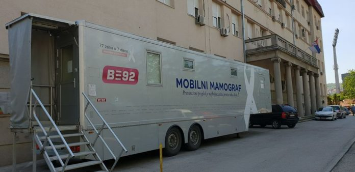 Mobilni mamograf u KC Niš