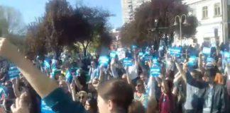 Protest ispred Skupštine grada Niša