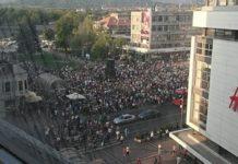 Protest na Trgu kralja Milana; Foto: Naissus Info