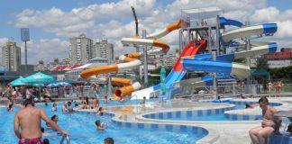Mini akva park na bazenu Čair: SC Čair