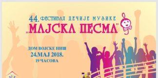 Majska pesma, plakat; Foto: Dečiji centar Niš