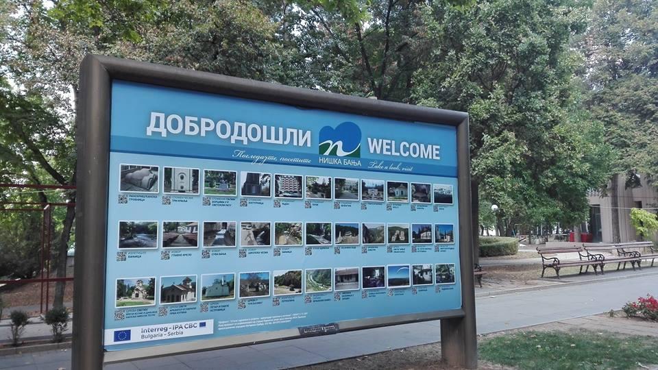 Turistička-informativna tabla u Niškoj Banji; Foto: GO Niška Banja