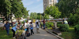 Prolećna akcija uređivanja zelenih površina ispred Doma zdravlja Niš