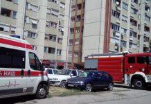Intervencija zbog požara na Bulevaru Nemanjića; Foto: Naissus Info