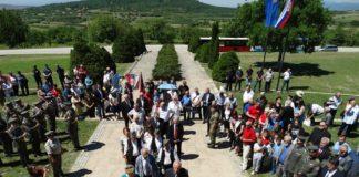 Polaganje venaca na Čegru; Foto: GO Pantelej