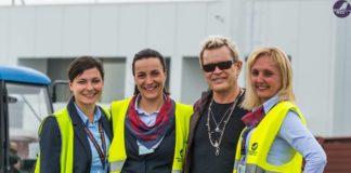 """Billy Idol na niškom aerodromu; Foto: Aerodrom Niš """"Konstantin Veliki"""""""