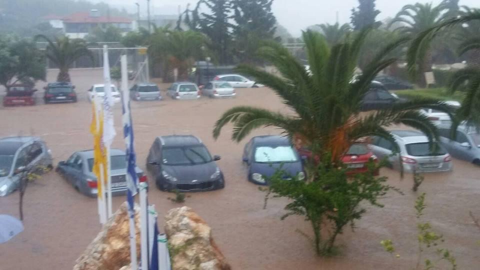 Posledice nevremena u Grčkoj; Foto: Grčka Info FB Printscreen
