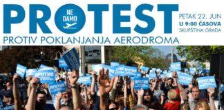 """Plakat Inicijative """"Ne damo niški aerodrom"""""""