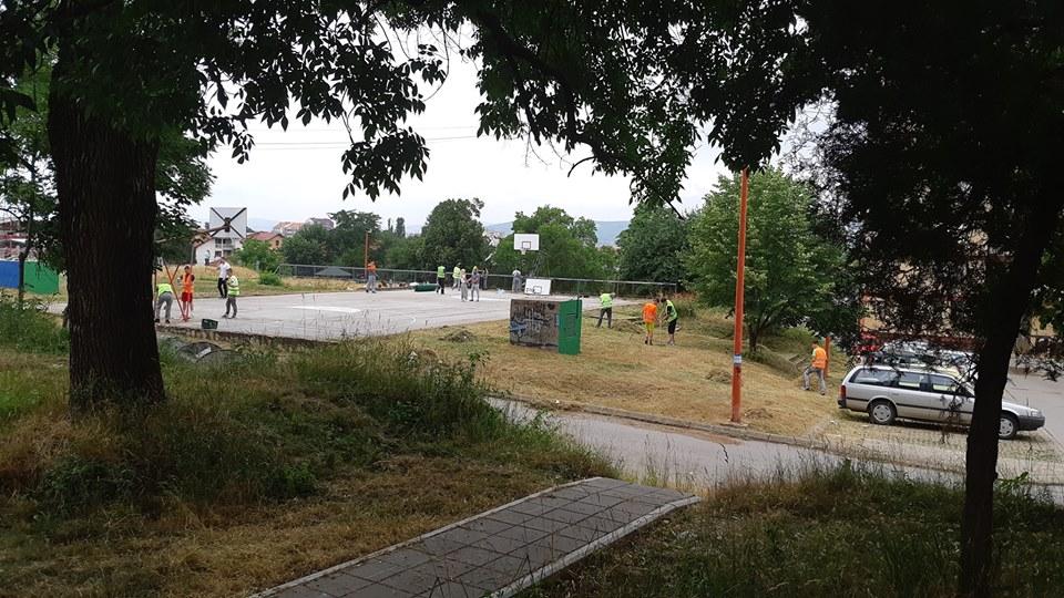 """Obnovljen košarkaški teren u Nišu; Foto: JKP """"Mediana"""" Niš"""