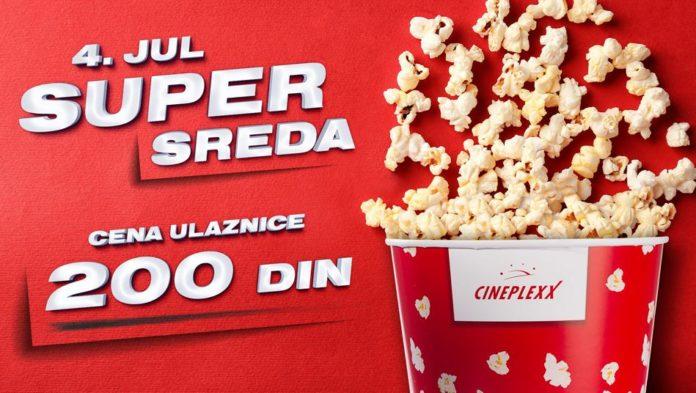 Ne propustite Super sredu 4. jula u bioskopu Cineplexx Niš kada vas očekuje cena ulaznice od 200 dinara za sve projekcije! Karte su u prodaji!