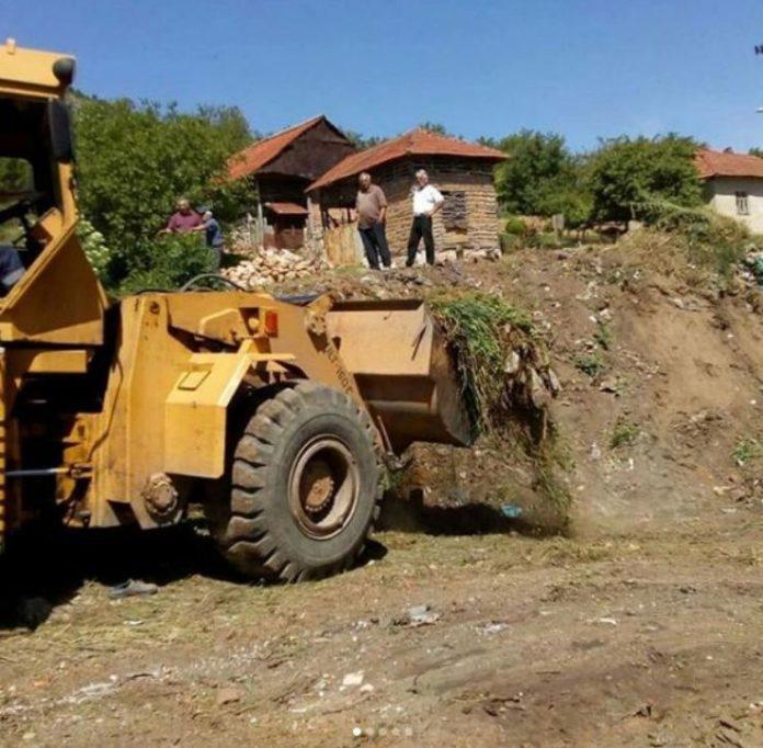 Sanacija divlje deponije u Ostrovici; Foto: GO Niška Banja