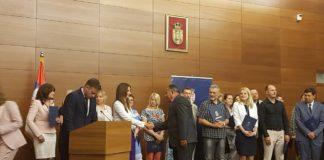Svečana dodela ugovora o donacji za nabavku digitalnog rendgen aparata; Foto: Dom zdravlja Niš