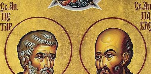 Ovaj praznik pomen je na stradanje Svetih apostola Petra i Pavla
