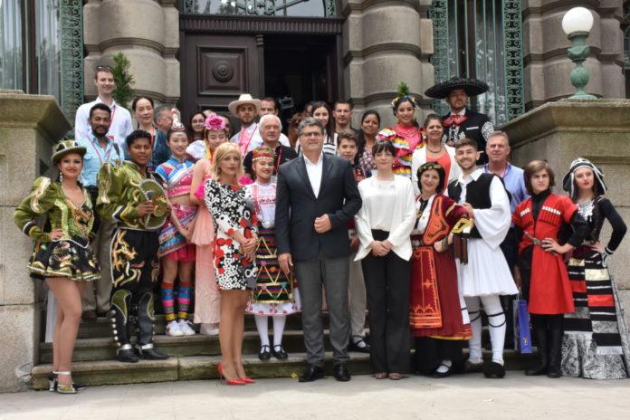 Prijem za učesnike 11. Međunarodnog studentskog festivala folklora; Foto: Grad Niš