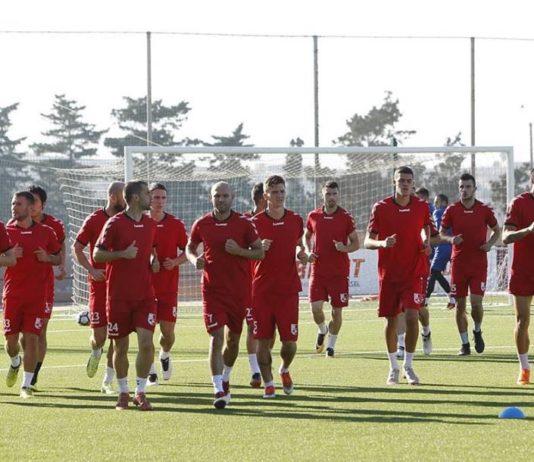 Trening pred meč; FK Radnički
