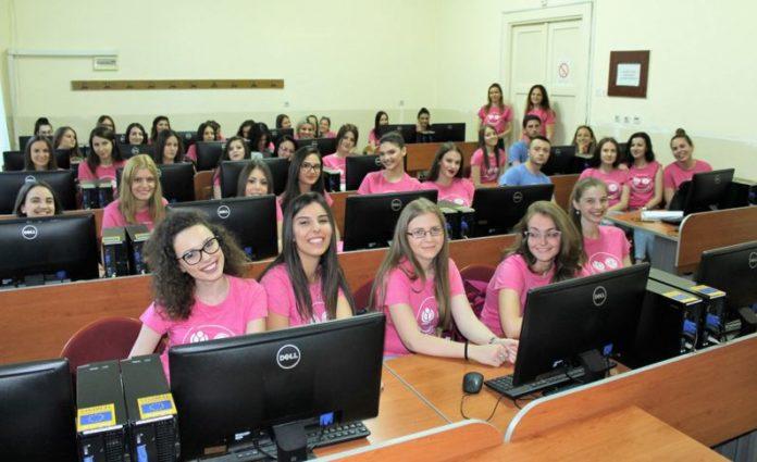 Studenti koji pišu za Vikipediju; Foto: Filozofski fakultet Niš