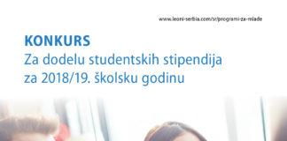 Konkursu kompanije LEONI Wiring Systems Southeast d.o.o. za dodelu studentskih stipendija za 2018/19.školsku godinu.