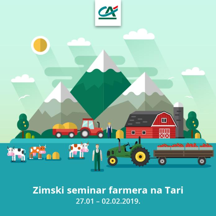 Crédit Agricole na Zimskom seminaru farmera na Tari predstavlja kredite sa grantom