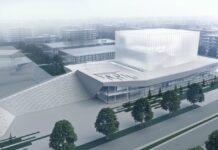 Ovako izgleda prvonagrađeno rešenje na nedavno završenom konkursu u Nišu, koje je planirano da se gradi tik uz novi tržni centar.