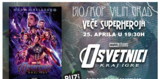 Veče super heroja-bioskop Vilin grad