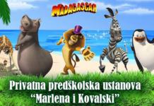 """Privatna predškolska ustanova """"Marlena i Kovalski"""" - vrtić Madagaskar"""