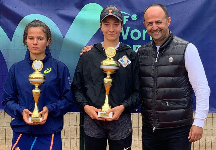 Finalistkinje singla u društvu direktora turnira Nikole Živkovića