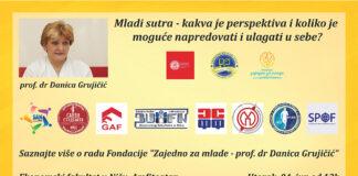U utorak, 4. juna od 13h, u Amfiteatru Ekonomskog fakulteta u Nišu, održaće se predavanje prof. dr Danice Grujičić.