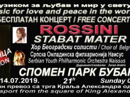 """Koncert Omladinske filharmonije Naissus """"Muzika za mir i ljubav u svetu"""""""