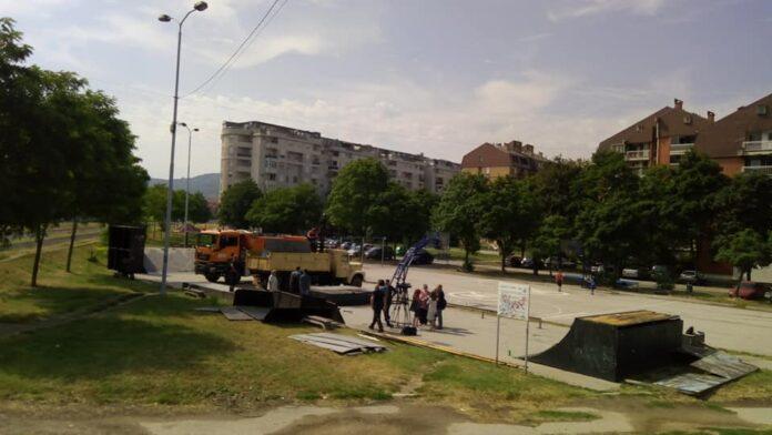 Skejt park na lokaciji Vizantijski bulevar