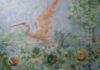 Crvena čapčlja i jabuke sa kanala DTD, 2018. ulje na kartonu, 102 x 72cm