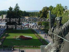 In Niš we don't say